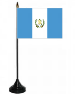 Guatemala Desk / Table Flag with plastic stand and base.